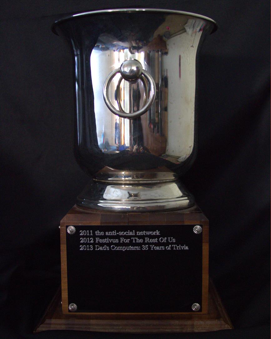 7th place trophy
